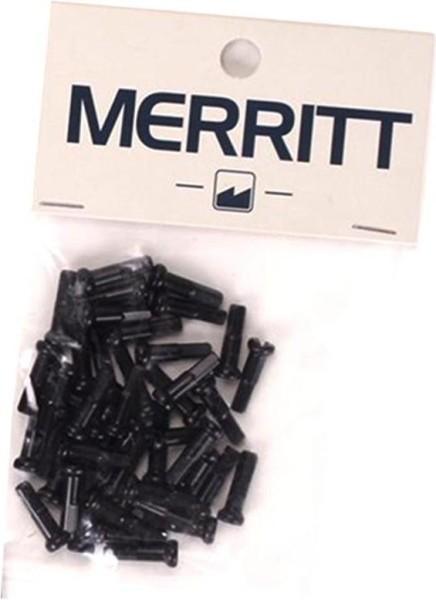 Merritt Speichennippel 14G, schwarz
